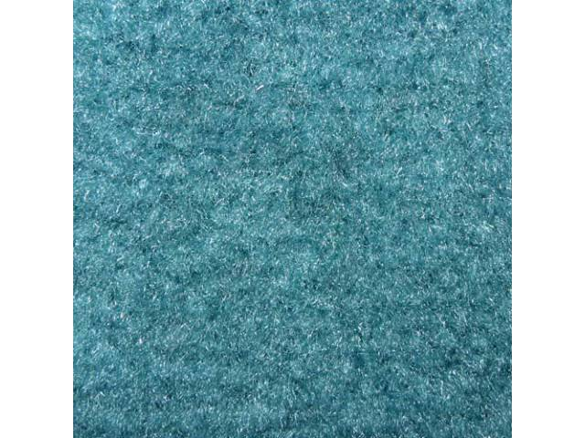 CARPET, Molded, Cut Pile, 2-piece, Turquoise, A/T, Rear