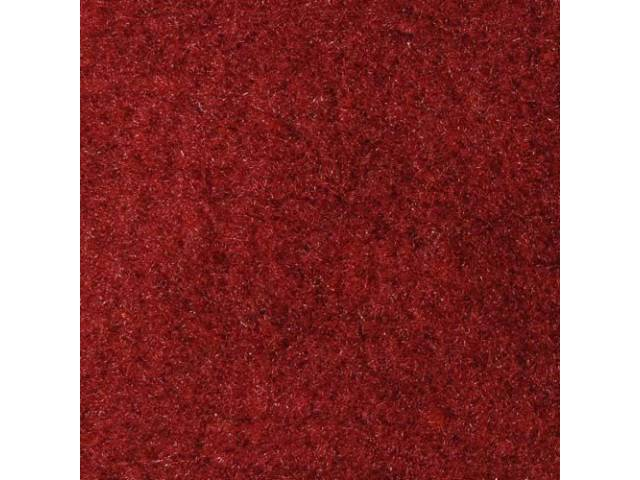 CARPET, Molded, Cut Pile, 2-piece, Maroon, A/T, Rear
