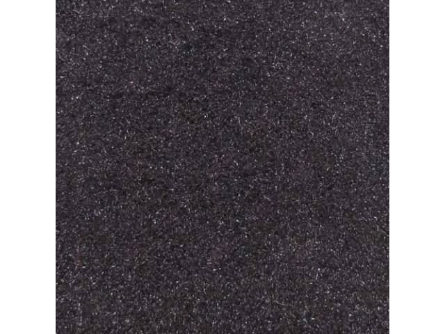 Carpet Cut Pile One Piece Black W/O Console