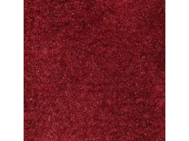 Carpet Cut Pile One Piece Bright Red W/O