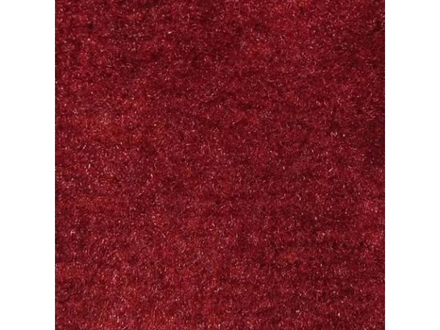 Carpet Cut Pile One Piece Bright Red W/