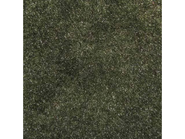 Carpet Cut Pile One Piece Dark Green W/
