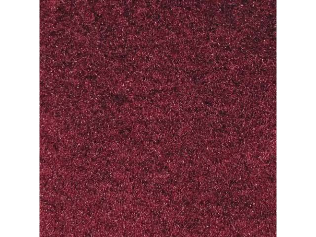 Carpet Cut Pile One Piece Maroon W/ Console
