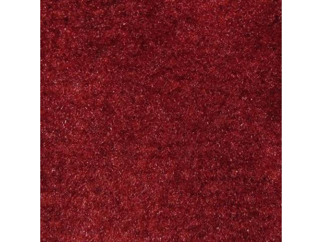 Carpet Cut Pile One Piece Red