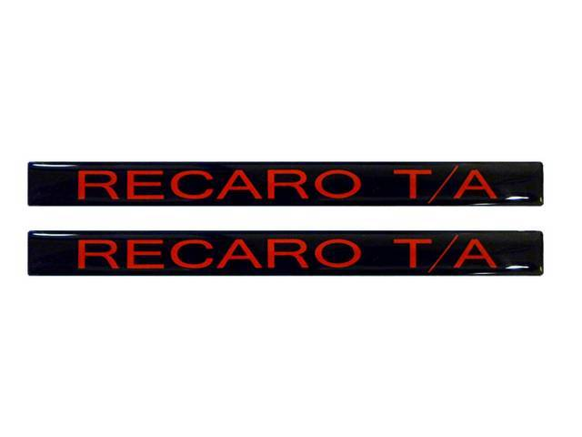 Decal Door Handle Insert Recaro T/A Black W/