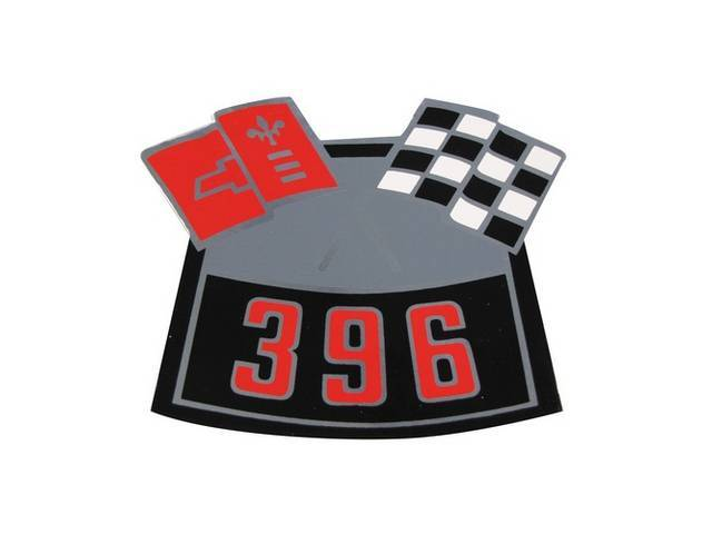 DECAL, Air Cleaner, Cross Flags design (one red