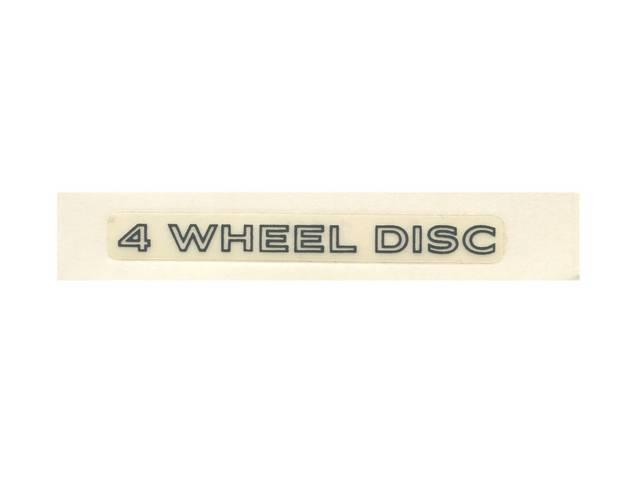 DECAL, Door Handle Insert, *4 Wheel Disc*, Charcoal