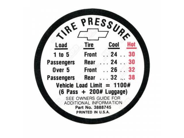 Decal Tire Pressure