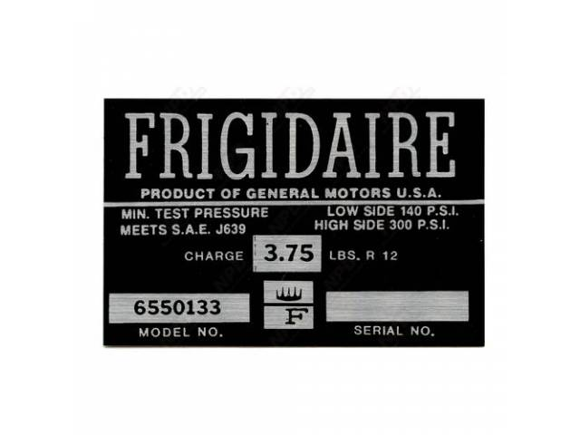 Decal Ac Compressor Frigidaire
