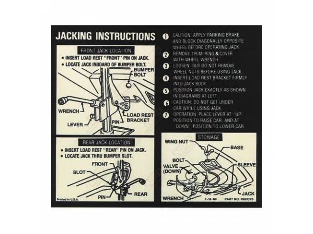 Decal Jacking Instruction See C-Dc347 For Early