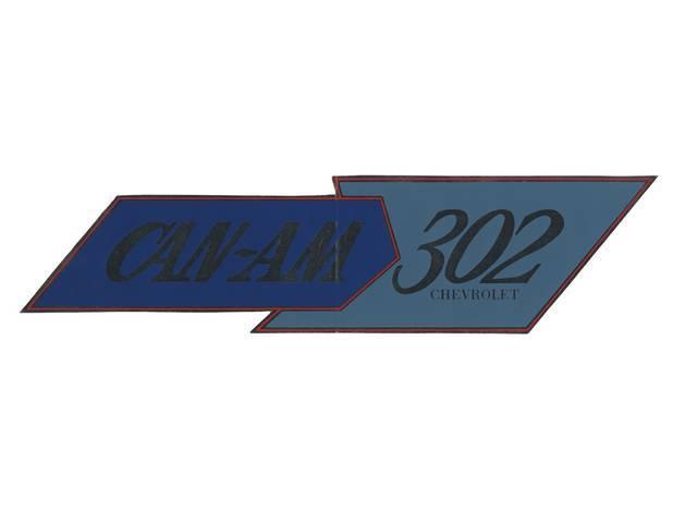 DECAL, Fender, *Camaro Trans Am 302*, Repro