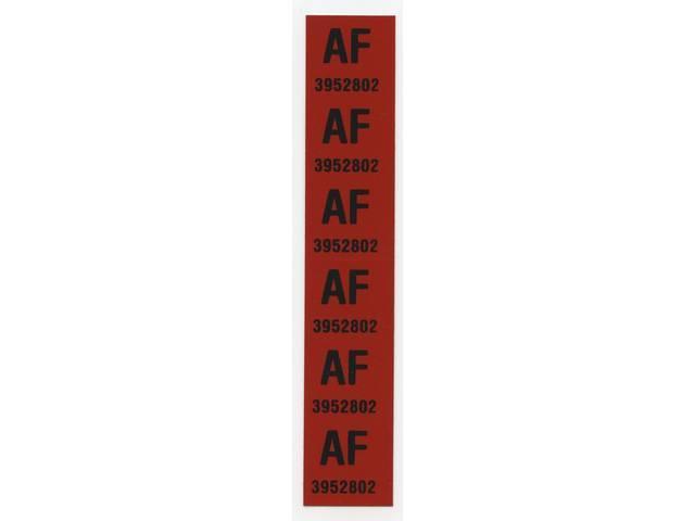 DECAL, Spring, Front, *AF 3952802*, Repro