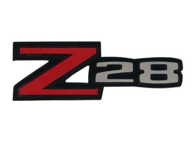 Z/28 Rear Spoiler Decal, repro