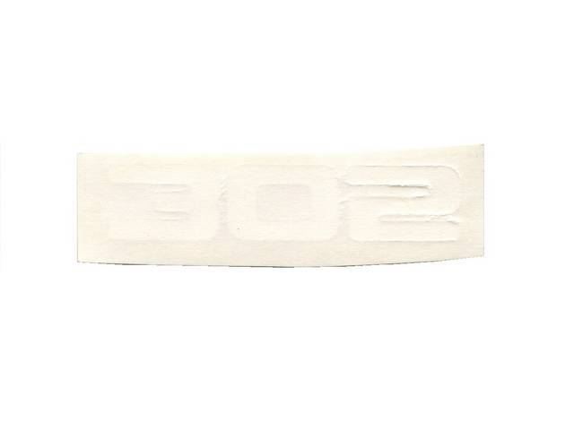 DECAL, Hood Scoop, *305*, White, Repro