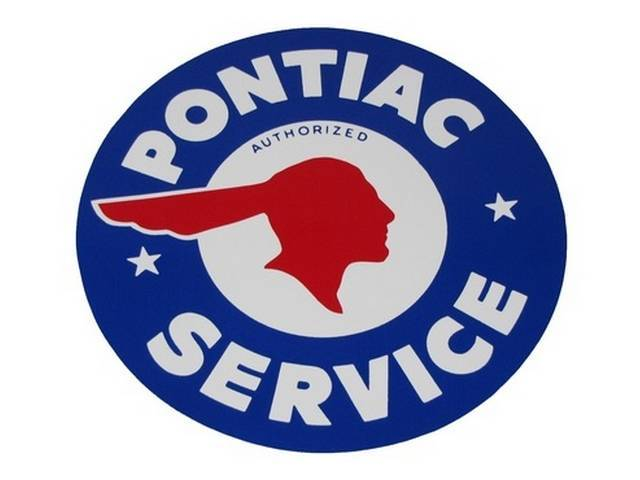 DECAL, Enthusiast, Authorized Pontiac Service, blue / white