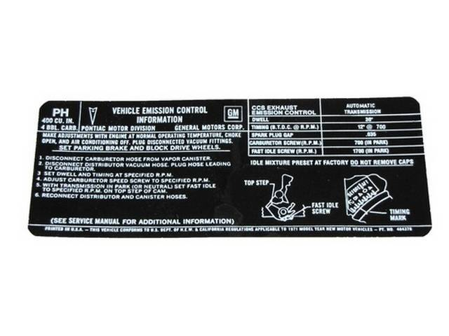 DECAL, Emission, *PH* and *484378*, repro