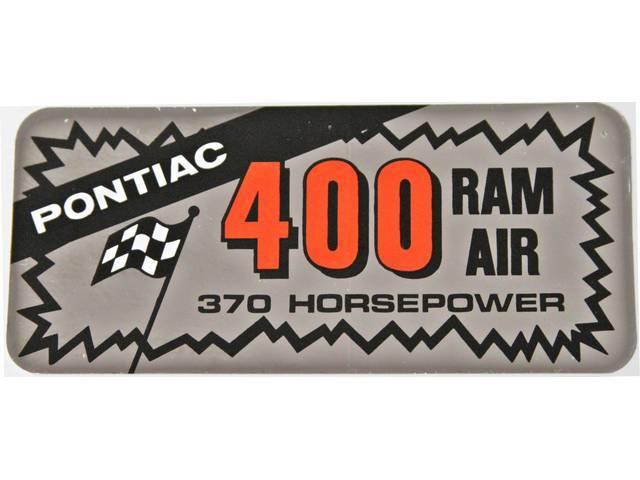 DECAL, Valve Cover, Aftermarket, *PONTIAC 400 RAM AIR