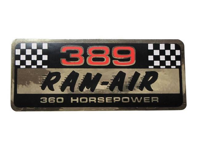 DECAL, Valve Cover, Aftermarket, *PONTIAC 389 RAM AIR