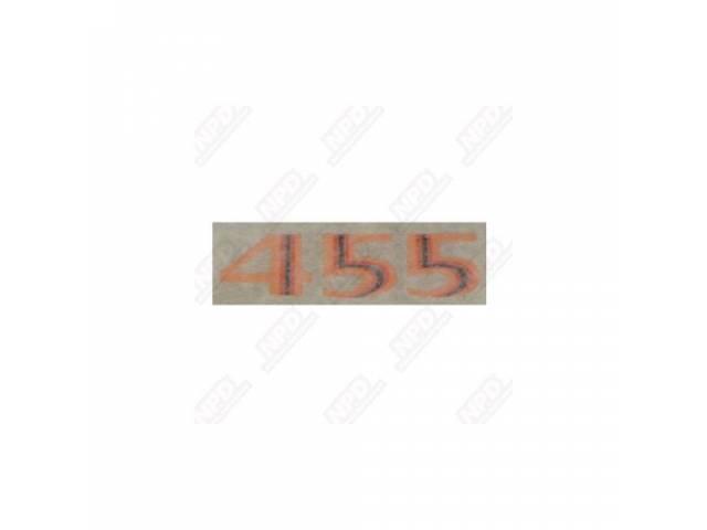 Decal Hood Scoop 455 Orange Repro Orange Stripe