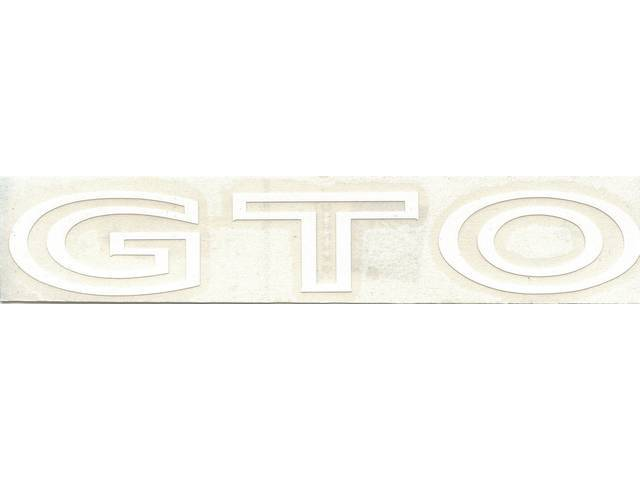 DECAL, Deck Lid / Trunk Lid, *GTO*, white,