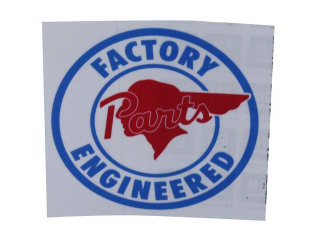 DECAL, Enthusiast, Pontiac Factory Engineered Parts, repro