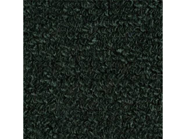 Carpet Fold Down Raylon Loop Style Dark Green