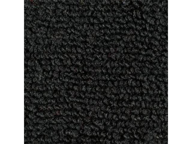 Carpet Fold Down Raylon Loop Style Black