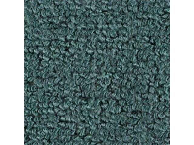 Carpet Fold Down Raylon Loop Style Turquoise