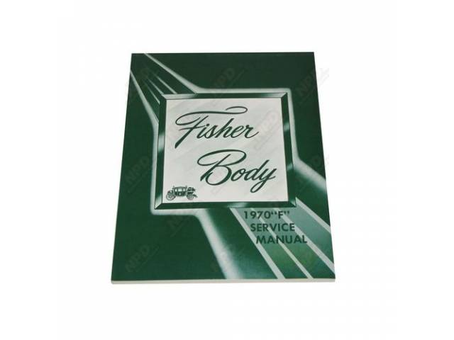 Book Fisher Body Service Manual F-Body Supplement Repro