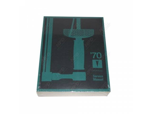 Book Pontiac Service Manual Repro Covers All 1970