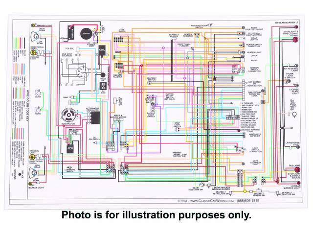 MANUAL, Wiring Diagram, full color, laminated, 17 Inch x 11 Inch, wiring diagram is OE color coded w/ easy to read text