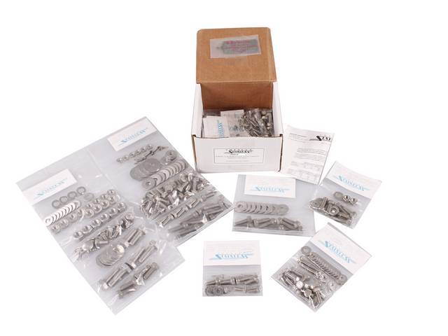 MASTER BODY HARDWARE KIT, Stainless, features button and