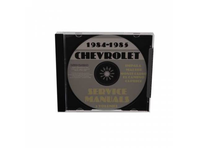 Shop Manual On Cd 1984-85 Chevrolet Service Manual