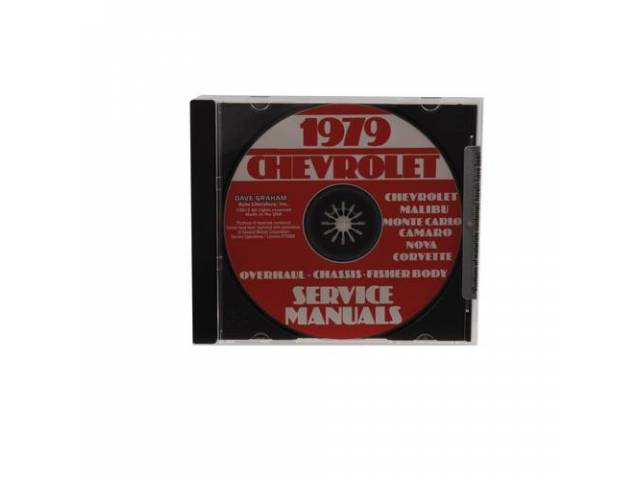 SHOP MANUAL ON CD, 1979 Chevrolet, Incl 1979 Chevrolet chassis, overhaul and Fisher body manuals