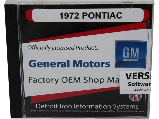 SHOP MANUAL ON CD, 1972 Pontiac, Incl 1972 Pontiac service and Fisher body manuals, 1963-75 Pontiac parts manual