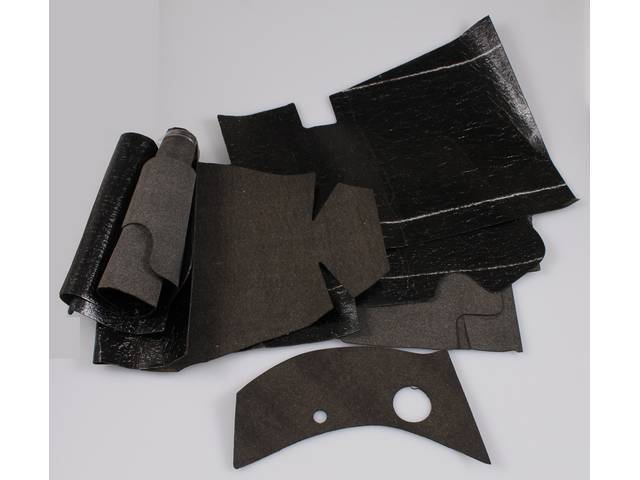 SOUNDPROOFING SET, Floor, (7) incl pre-cut pieces, replacement style repro  ** For an OE-style kit, see p/n C-SP-100P **
