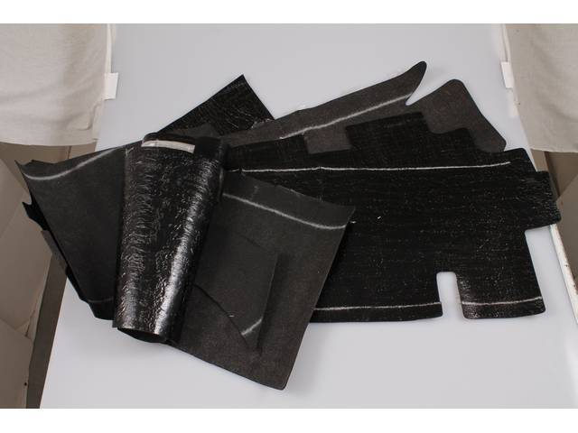 SOUNDPROOFING SET, Floor, (7) incl pre-cut pieces, replacement style repro  ** For an OE-style kit, see p/n C-SP-101P **