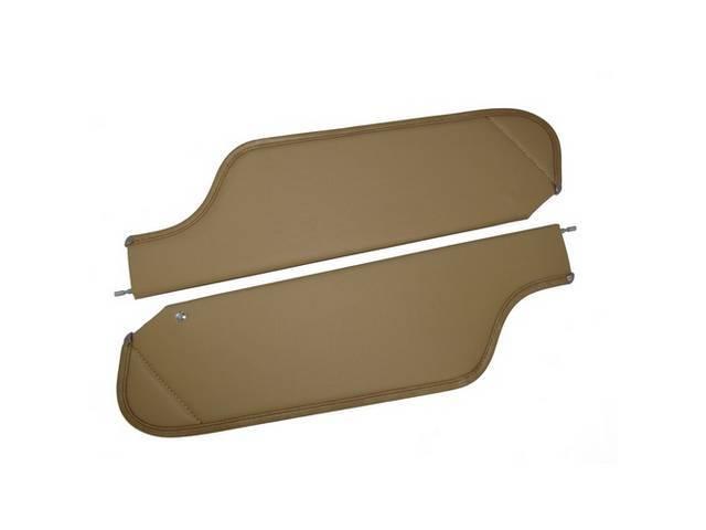 SUNVISOR SET, Saddle, Non Perforated Grain, 2 Pin Style (Incl 1 Pin), repro