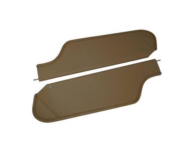 SUNVISOR SET, Saddle, Perforated Grain, 2 Pin Style (Incl 1 Pin), repro