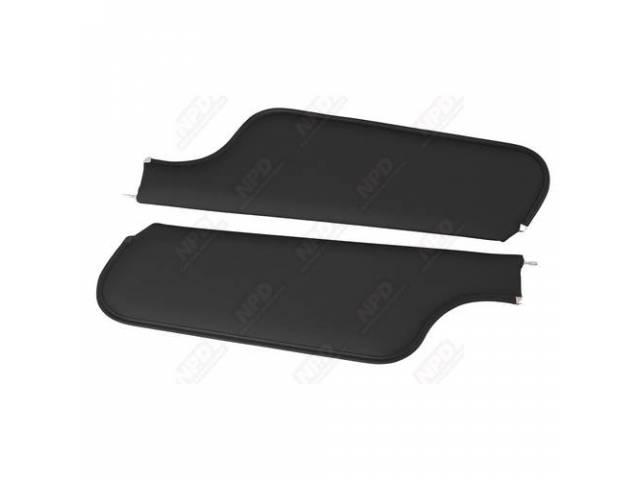 Sunvisor Set Premium Black Non Perforated Grain 2