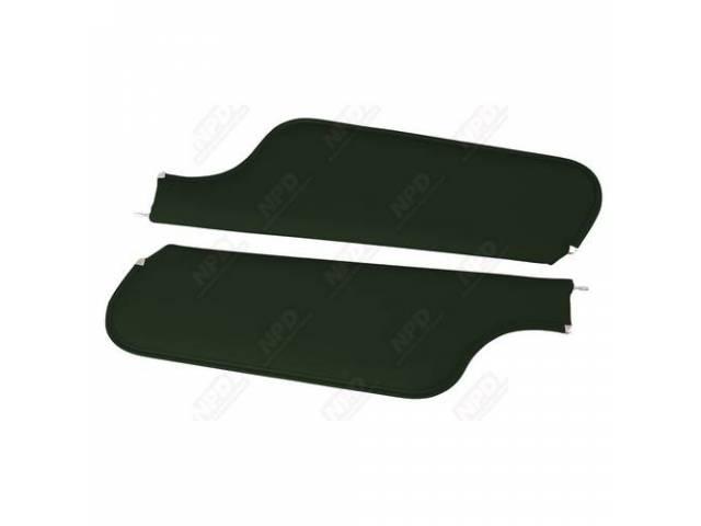Sunvisor Set Premium Dark Green Non Perforated Grain