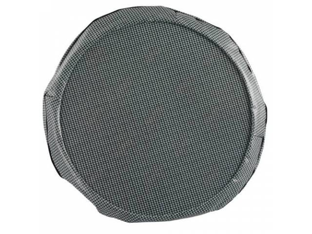 Tire Cover 14 Inch Aqua Houndstooth W/ Hardboard