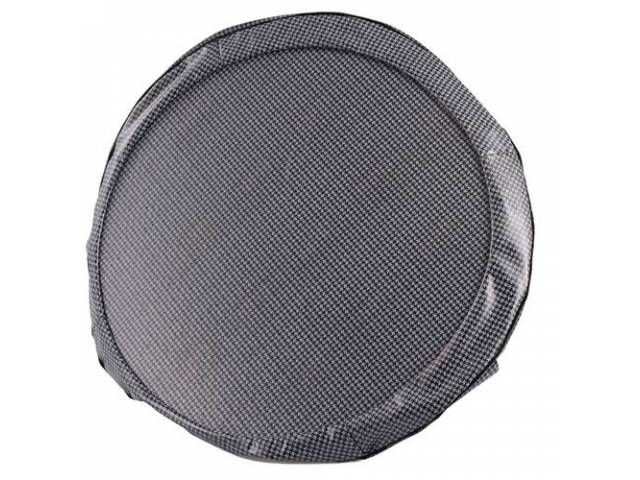 Tire Cover 15 Inch Gray Houndstooth W/ Hardboard