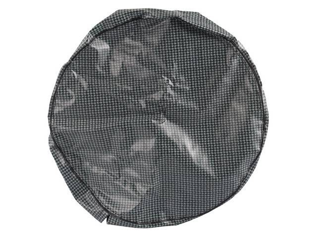 TIRE COVER, Space Saver, Aqua houndstooth, OE Style Repro