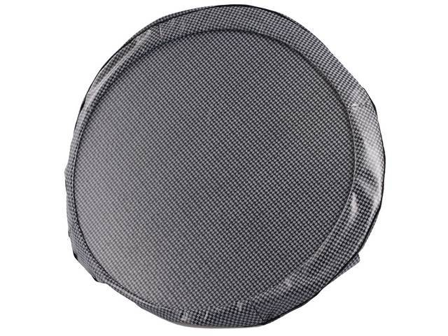 TIRE COVER, 15 Inch, Gray and Black Houndstooth, W/ hardboard, repro