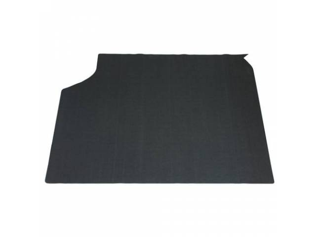 TRUNK MAT, Felt, Green / Gray, 1-piece, 46 inches wide x 35 inches front to rear, felt top w/ foam backing, repro