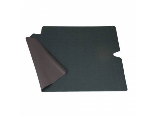 TRUNK MAT, Felt, Green / Gray, 1-piece, 50 inches wide x 35 3/4 inches front to rear, felt top w/ foam backing, repro