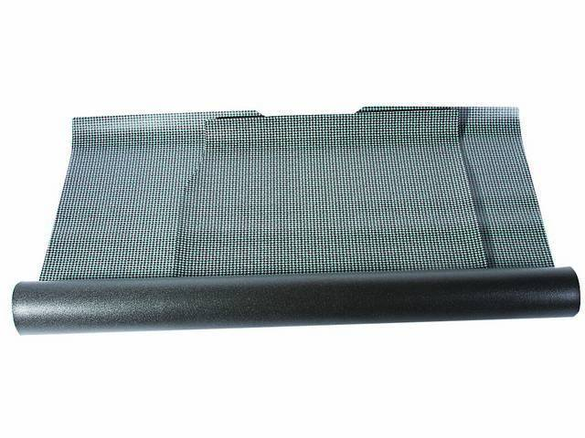 TRUNK MAT, Rubber, Aqua and Black Houndstooth, 2-piece repro