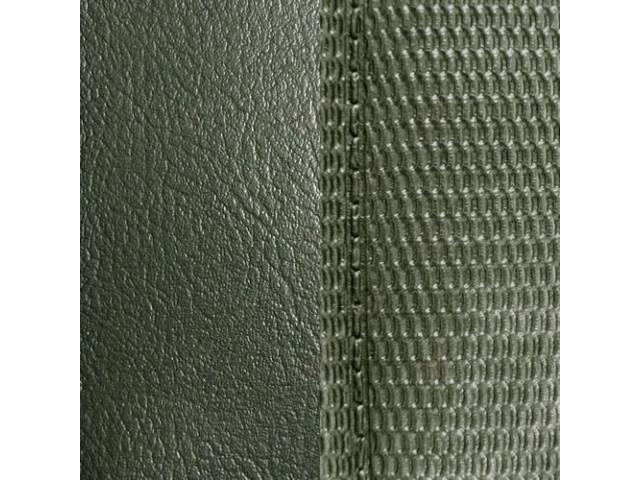 Upholstery Set Front Buckets Dlx Dark Green Metallic