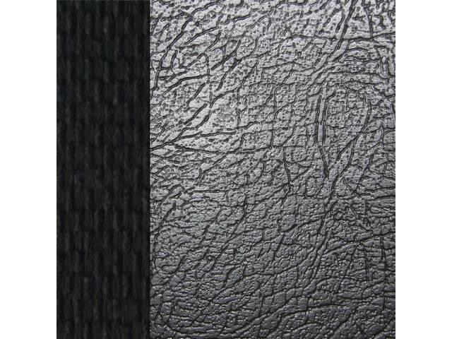 Upholstery Set Premium Front Buckets Dlx Black Sierra